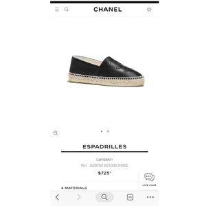 Chanel black espadrille
